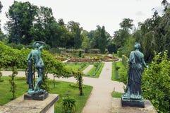 Flower garden in Sanssouci Park, Potsdam, Germany Stock Photography