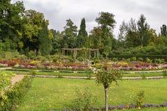 Flower garden in Sanssouci Park, Potsdam, Germany Royalty Free Stock Photos