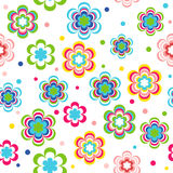 Flower Garden Seamless Pattern - Illustration Royalty Free Stock Photography