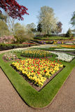 Flower Garden in Spring, England. Royalty Free Stock Photos