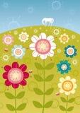 Flower garden vector illustration
