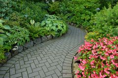 Flower Garden walkway Royalty Free Stock Photography
