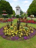 Flower garden and war memorial Stock Photography