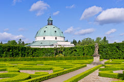 Flower gardens in Kromeriz, Czech Republic Royalty Free Stock Photography