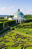 Flower gardens in Kromeriz, Czech Republic Stock Photography