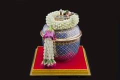 Flower garland. Handmade from Thailand Royalty Free Stock Photo