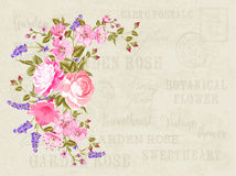 Flower garland illustration. Royalty Free Stock Photo