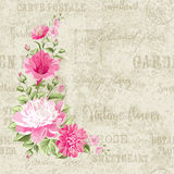 Flower garland for invitation Royalty Free Stock Photography