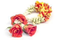 Flower garland isolated. Royalty Free Stock Photos