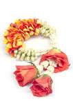 Flower garland isolated. Stock Photo