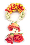 Flower garland isolated. Stock Photos