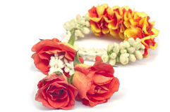 Flower garland isolated. Stock Image