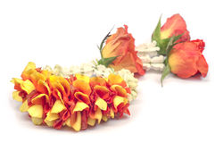 Flower garland isolated. Royalty Free Stock Image