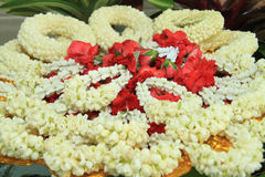 Flower garlands. Flower garlands at Buddhist temple in Thailand Royalty Free Stock Image