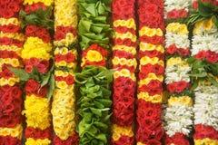 Flower garlands - Background Stock Images