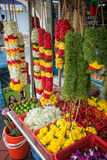 Flower garlands and basket of flower Royalty Free Stock Images