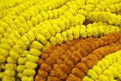 Flower garlands in a gift to gods. India Royalty Free Stock Photos