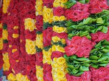 Flower garlands for Hinduism and Buddhism religious ceremony Royalty Free Stock Images
