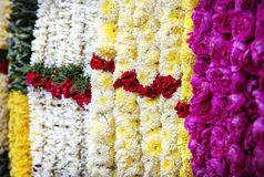 Flower garlands in India Royalty Free Stock Photography