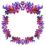 Flower garlands in the shape of a wreath Stock Photo