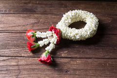 Flower garlands of thai style for Songkran Stock Image