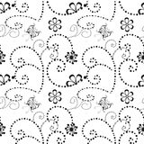 Flower geometric seamless pattern. Fashion graphic. Background design. Modern stylish abstract texture.Template for prints, textil Stock Images