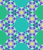 Flower Geometric Seamless Pattern Royalty Free Stock Photography