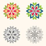 Flower geometric shape design Illustration.  Royalty Free Stock Photos