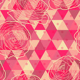 Flower geometrical seamless pattern Stock Image