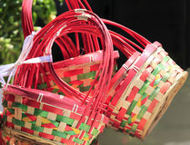 Flower gift baskets Royalty Free Stock Images