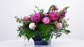 Flower gift for a girl, a woman, a loved one stock footage