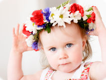 Flower girl royalty free stock photography