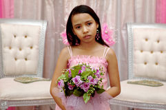 Flower girl. Wedding ceremony royalty free stock photography