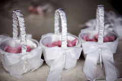 Flower girl baskets Royalty Free Stock Images