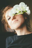 Flower girl royalty free stock images