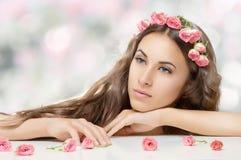 Flower girl Stock Photo