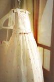 Flower girl dress on wedding day Stock Images