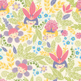 Flower girls seamless pattern background Stock Photos