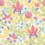 Flower girls seamless pattern background Stock Photo