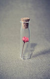 Flower in a glass jar. vintage Royalty Free Stock Photo