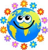 Flower globe royalty free illustration
