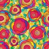 Flower gold bright seamless pattern Stock Image