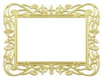 Flower gold frame Stock Photo