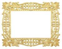 Flower gold frame Stock Photos