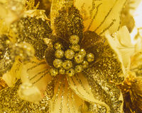 Flower with gold glitter for decoration Stock Photography