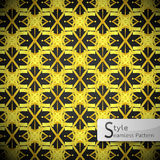Flower golden cross vintage geometric seamless pattern vector il Royalty Free Stock Photo
