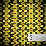 Flower golden row cross vintage geometric seamless pattern vecto Royalty Free Stock Images