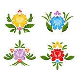 Flower Gorodets painting. Russian national folk craft. Elements. Of traditional painting in Russia Royalty Free Stock Photo