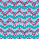 Flower gradient follow chevron symmetry seamless pattern. This illustration is design flower gradient follow chevron style in symmetry seamless pattern royalty free illustration