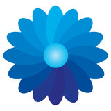 Flower Gradient. Using a flower for the illustration of the gradient Royalty Free Stock Image
